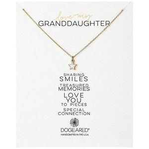 """Dogeared """"Love My Granddaughter"""" Double Star Charm"""